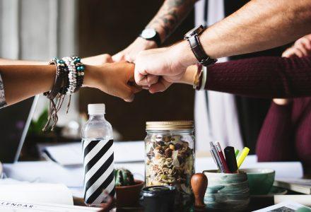 Business winning teamwork