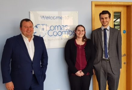 Peter Sawrij welcomes Frances Lornie and Max Lawton to The Yorkshire Accountants: Thomas Coombs