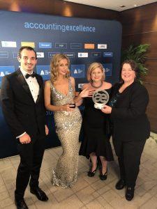 AccountsIQ Accepting Award